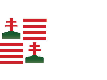 Vector Illustration of the Historical Timeline Flag of Hungary from 15th century