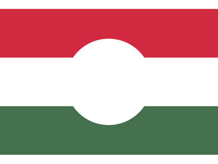 Vector Illustration of the Historical Timeline Flag of the Hungarian Revolution (1956)