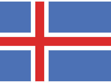 Vector Illustration of the Historical Timeline Flag of Iceland from 1918 to 1944