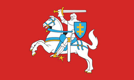 Vector Illustration of the Historical Timeline Ancient Flag of Lithuania