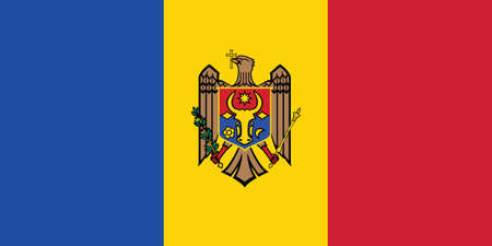 Vector Illustration of the Historical Timeline Current Flag of Moldova