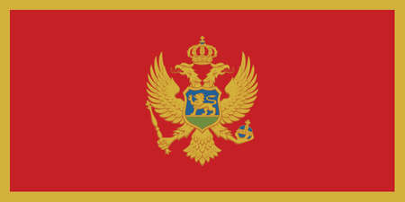 Vector Illustration of the Historical Timeline Current Flag of Montenegro