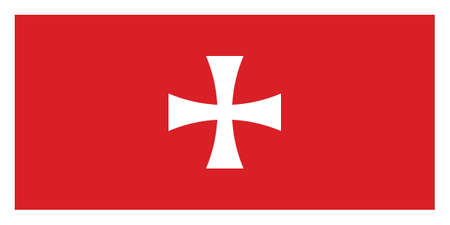 Vector Illustration of the Historical Timeline Flag of the Prince-Bishopric of Montenegro Illustration