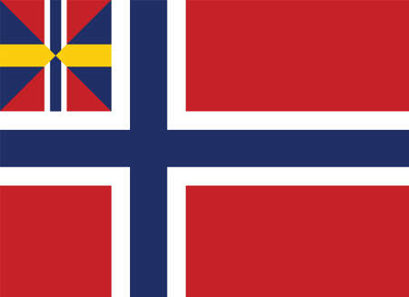 Vector Illustration of the Historical Timeline  Union Flag of Norway from 1844 to 1899