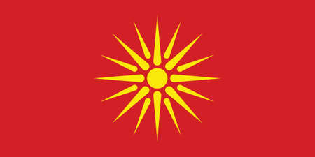 Vector Illustration of the Historical Timeline Flag of Macedonia from 1992 to 1995