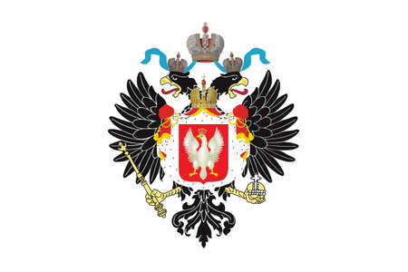 Vector Illustration of the Historical Timeline Royal Standard of the Tsar of Poland from 1815 to 1830 Illustration