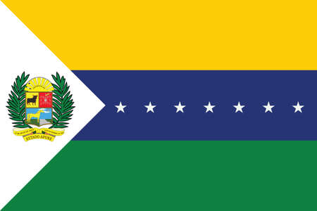 Flat Vector Flag of the Venezuelan State of Apure