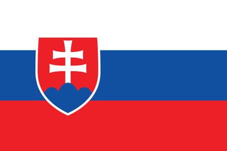 Vector Illustration of the Historical Timeline Current Flag of Slovakia
