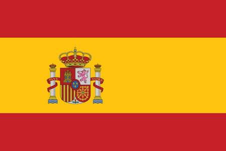 Vector Illustration of the Historical Timeline Current Flag of Spain