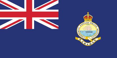 Former Bahamian Historic Vector Flag of the Bahamas between 1923 and 1953