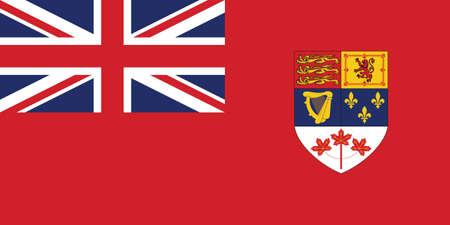 Former Canadian Historic Vector Flag of Canada between 1957 and 1965