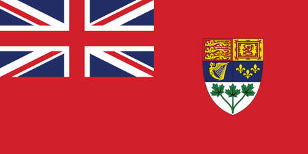 Former Canadian Historic Vector Flag of Canada between 1921 and 1957