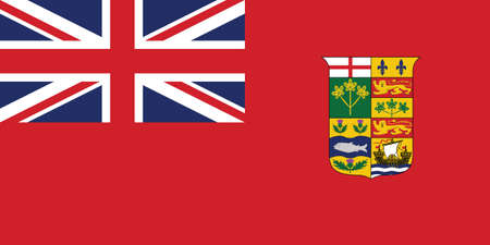 Former Canadian Historic Vector Flag of Canada between 1868 and 1921 Vetores