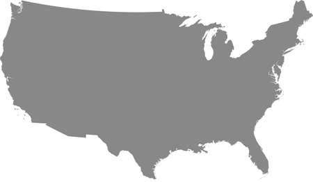 Gray vector map of the United States of America (continetal US without Alaska and Hawaii) Illusztráció
