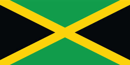 Official current vector flag of unitary parliamentary constitutional monarchy of Jamaica Illustration