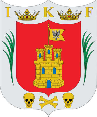 Official vector coat of arms of the Mexican state of Tlaxcala