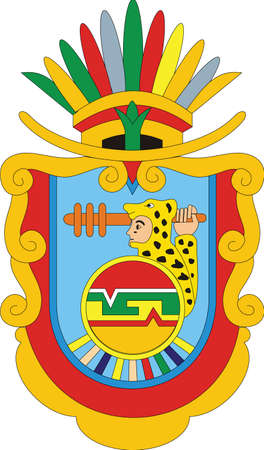Official vector coat of arms of the Mexican state of Guerrero