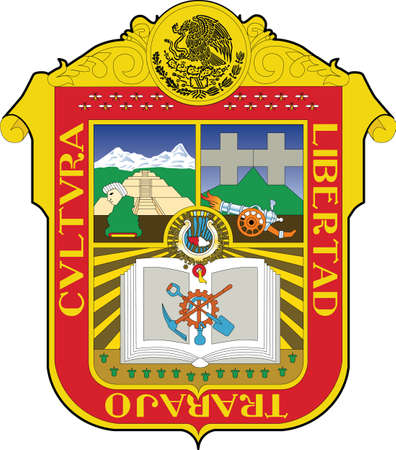 Official vector coat of arms of the Mexican state of México