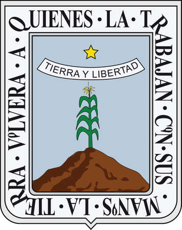 Official vector coat of arms of the Mexican state of Morelos