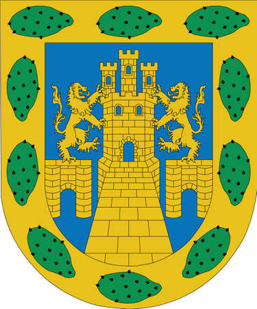 Official vector coat of arms of the Mexican state of Mexico City state (Ciudad de México) Illustration