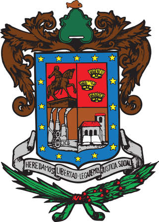 Official vector coat of arms of the Mexican state of Michoacán Illustration
