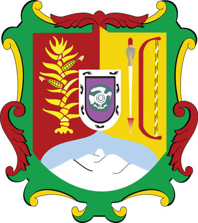 Official vector coat of arms of the Mexican state of Nayarit Illustration