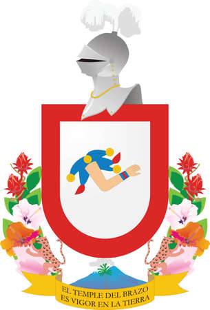 Official vector coat of arms of the Mexican state of Colima