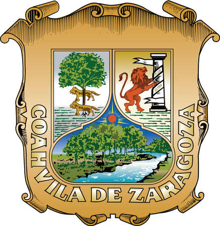Official vector coat of arms of the Mexican state of Coahuila