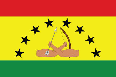 Official vector flag of the Panamanian Guna Yala indigenous region Ilustração