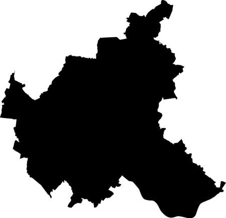 Simple vector black administrative map of the Free and Hanseatic City of Hamburg, Germany