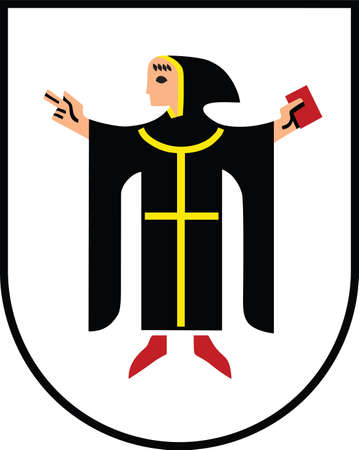 Vector coat of arms illustration of the German city of Munich, Germany 向量圖像