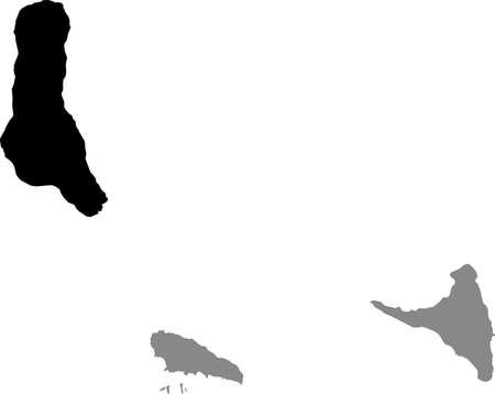 Black location map of the Comoran Ngazidja (Grande Comore) island inside gray map of the Union of the Comoros