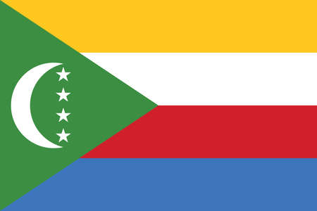 Official current vector flag of the Union of the Comoros 向量圖像