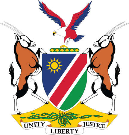 Official current vector coat of arms of the Republic of Namibia