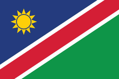 Official current vector flag of the Republic of Namibia