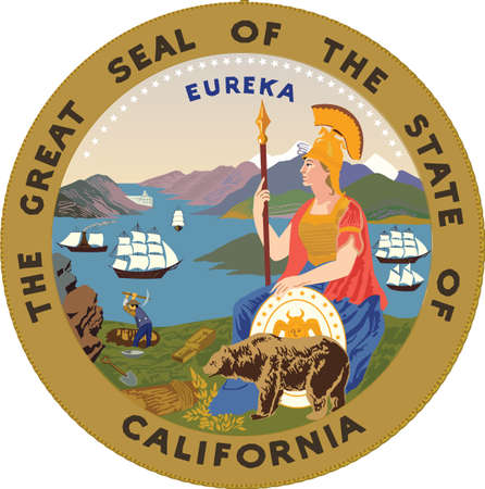Official current vector great seal of the Federal State of California, USA Illustration