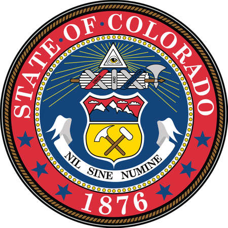 Official current vector great seal of the Federal State of Colorado, USA