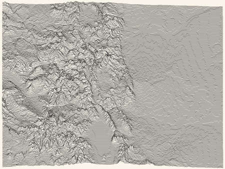 Light topographic map of the Federal State of Colorado, USA with black contour lines on beige background