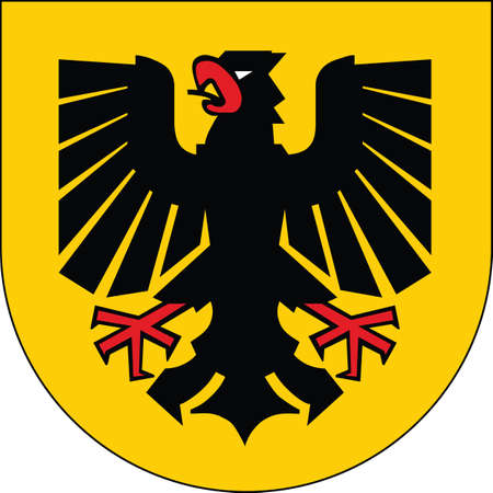 Vector coat of arms illustration of the German regional capital city of Dortmund, Germany