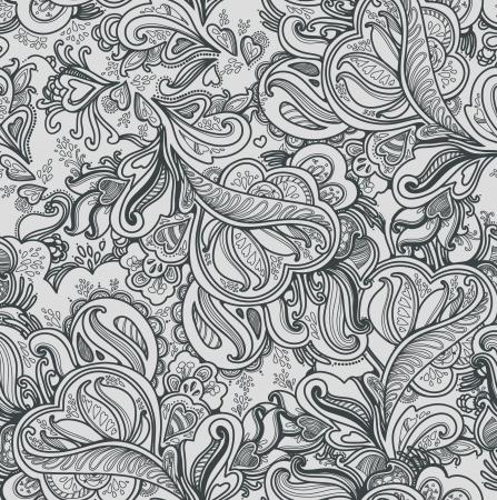Stylish floral saemless background Illustration