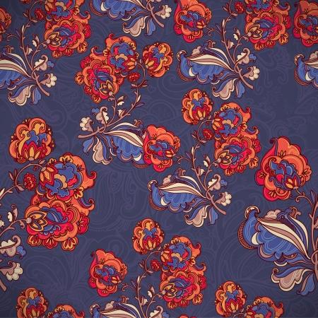 ornaments vector: Disegnati a mano ornamenti floreali. modello senza saldatura vettoriale Vettoriali