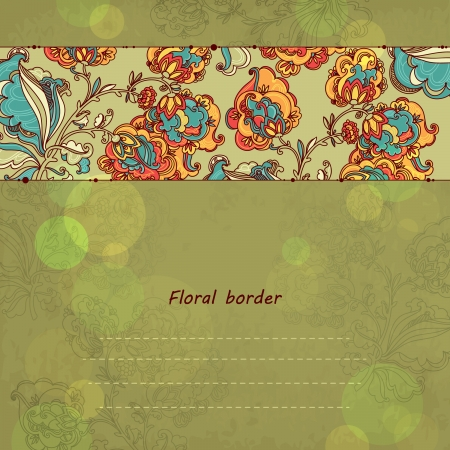 Hand Drawn floral ornaments. vector background Vector