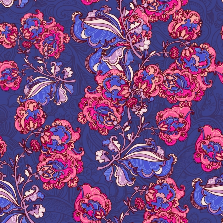 Hand Drawn floral ornaments. vector  seamless pattern