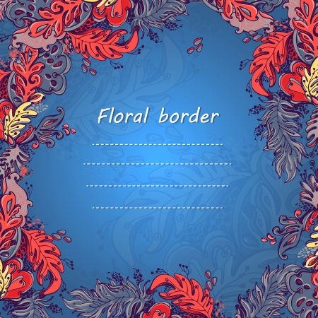 Floral background, greeting card  Template design, anniversary decoration Illustration