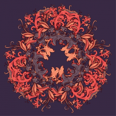 Beautiful and detailed floral ornament  Very easy to edit  Stock Vector - 18487499