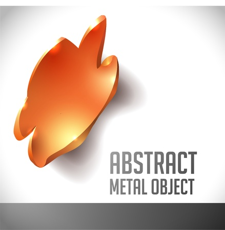 iron fun: abstract metal object with uneven edges  background for design