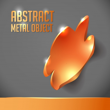 abstract metal object with uneven edges  background for design