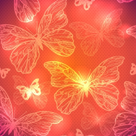 Butterfly seamless pattern  vector illustration  Vector