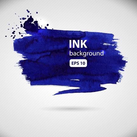 vector set of detailed grunge paint strokes Illustration
