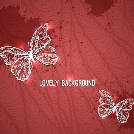 life style: brillant papillon. illustration avec des rayures Illustration